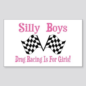 DRAG RACING IS FOR GIRLS Sticker (Rectangle)